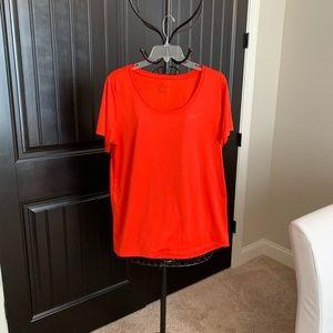 Nike | Cotton Dri-Fit | S/S Tee | XL | Red-Orange